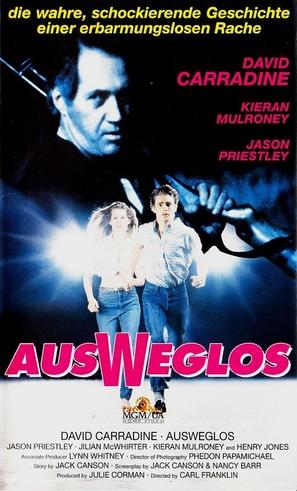 Nowhere to Run - German VHS movie cover (thumbnail)