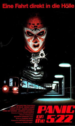 Panic on the 5:22 - German VHS movie cover (thumbnail)