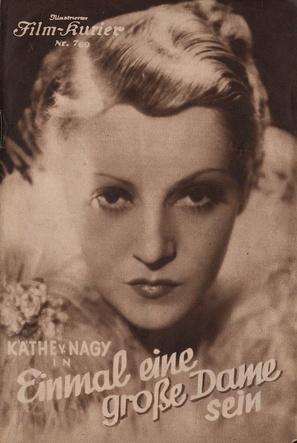 Grosse Dame Image einmal eine große dame sein (1934) movie posters