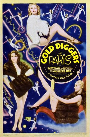 Gold Diggers in Paris - Theatrical poster (thumbnail)