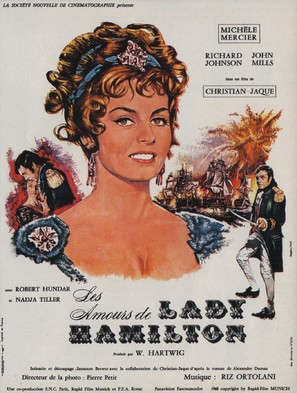 Le calde notti di Lady Hamilton - French Movie Poster (thumbnail)