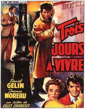 Trois jours à vivre - French Movie Poster (thumbnail)