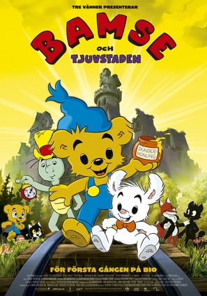 Bamse och tjuvstaden - Swedish Movie Poster (thumbnail)