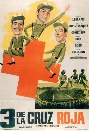 Tres de la Cruz Roja - Spanish Movie Poster (thumbnail)