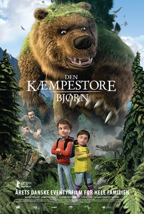 Den kæmpestore bjørn - Danish Movie Poster (thumbnail)