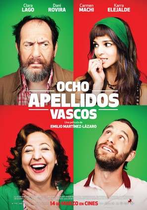 Ocho apellidos vascos - Spanish Movie Poster (thumbnail)