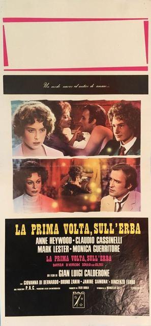 La prima volta, sull'erba - Italian Movie Poster (thumbnail)