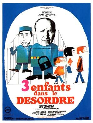 Trois enfants... dans le désordre - French Movie Poster (thumbnail)