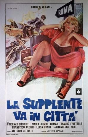 La supplente va in città - Italian Movie Poster (thumbnail)