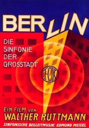 Berlin: Die Sinfonie der Großstadt - German Movie Poster (thumbnail)