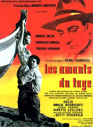Les amants du Tage - French Movie Poster (thumbnail)