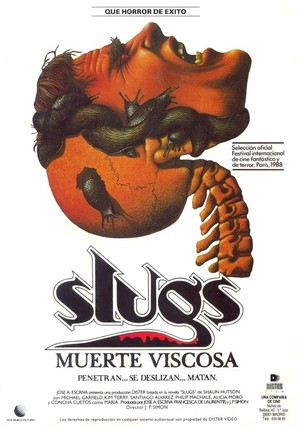 Slugs, muerte viscosa - Spanish Movie Poster (thumbnail)