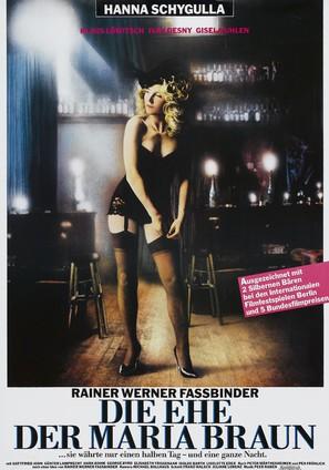 Die ehe der Maria Braun - German Movie Poster (thumbnail)