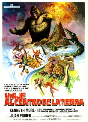 Viaje al centro de la Tierra - Spanish Movie Poster (thumbnail)