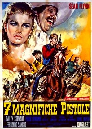 7 magnifiche pistole - Italian Movie Poster (thumbnail)