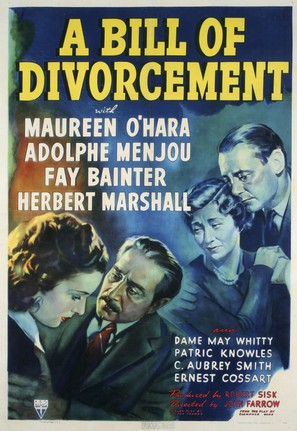 A Bill of Divorcement - Movie Poster (thumbnail)