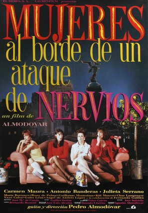 Mujeres Al Borde De Un Ataque De Nervios - Spanish Movie Poster (thumbnail)