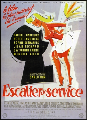Escalier de service - French Movie Poster (thumbnail)