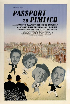 Passport to Pimlico - British Movie Poster (thumbnail)