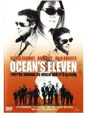 Ocean's Eleven - DVD movie cover (thumbnail)
