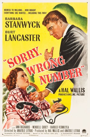 Sorry, Wrong Number - Movie Poster (thumbnail)