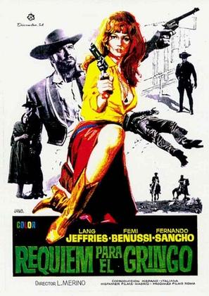 Rèquiem para el gringo - Spanish Movie Poster (thumbnail)