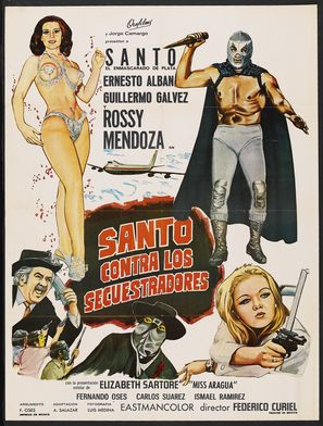 'Santo' contra los secuestradores - Mexican Movie Poster (thumbnail)