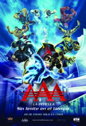 AAA, la película: Sin límite en el tiempo - Mexican Movie Poster (thumbnail)