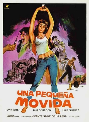 Una pequeña movida - Spanish Movie Poster (thumbnail)