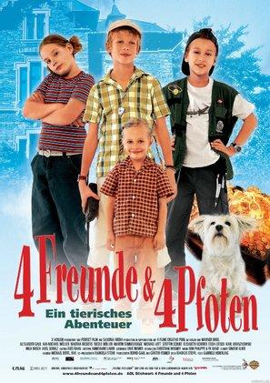 4 Freunde und 4 Pfoten - German Movie Poster (thumbnail)