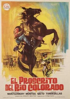 El proscrito del río Colorado - Spanish Movie Poster (thumbnail)