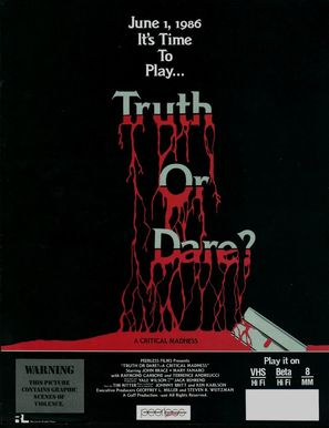 Truth or Dare?: A Critical Madness - Video release poster (thumbnail)