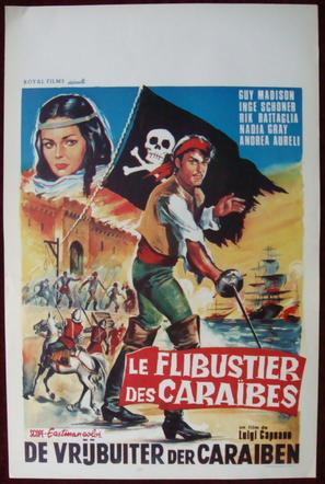 L'avventuriero della Tortuga - Belgian Movie Poster (thumbnail)