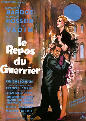 Le repos du guerrier - French Movie Poster (thumbnail)