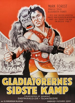 Maciste, gladiatore di Sparta - Danish Movie Poster (thumbnail)