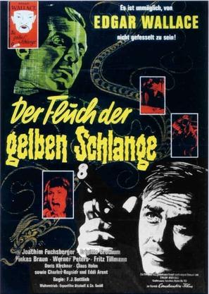Der Fluch der gelben Schlange - German Movie Poster (thumbnail)