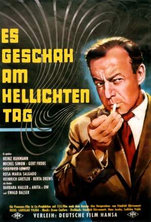 Es geschah am hellichten Tag - German Movie Poster (thumbnail)