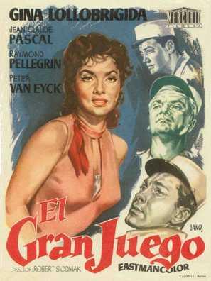 Le grand jeu - Spanish Movie Poster (thumbnail)