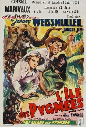 Jungle Jim in Pygmy Island - Belgian Movie Poster (thumbnail)