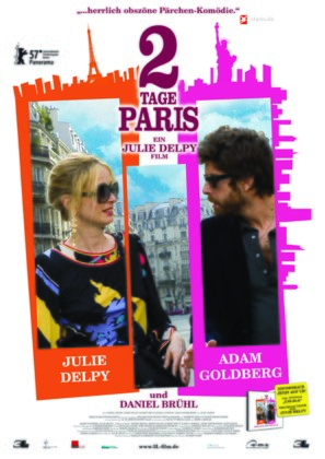 2 Days in Paris - German Theatrical poster (thumbnail)