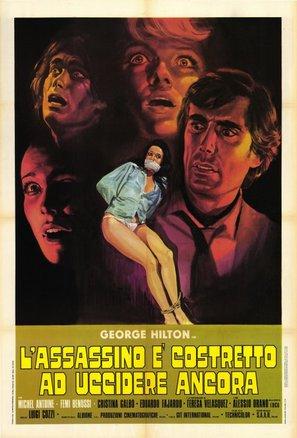 L'assassino è costretto ad uccidere ancora - Italian Movie Poster (thumbnail)