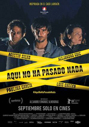 Aquí no ha pasado nada - Chilean Movie Poster (thumbnail)