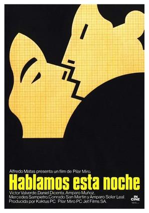 Hablamos esta noche - Spanish Movie Poster (thumbnail)