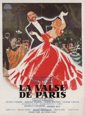 La valse de Paris - French Movie Poster (thumbnail)