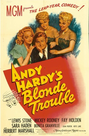 Andy Hardy's Blonde Trouble - Movie Poster (thumbnail)
