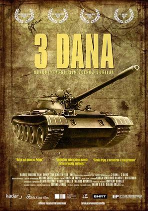 3 Dana - Bosnian Movie Poster (thumbnail)