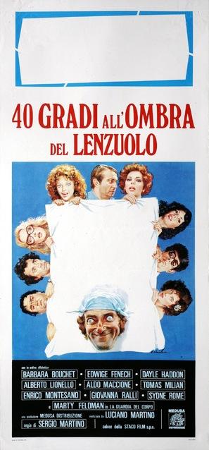 40 gradi all'ombra del lenzuolo - Italian Movie Poster (thumbnail)