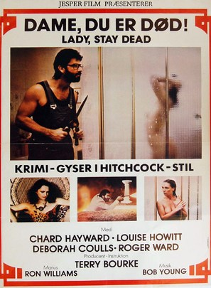 Lady Stay Dead - Danish Movie Poster (thumbnail)
