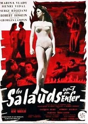 Les salauds vont en enfer - French Movie Poster (thumbnail)