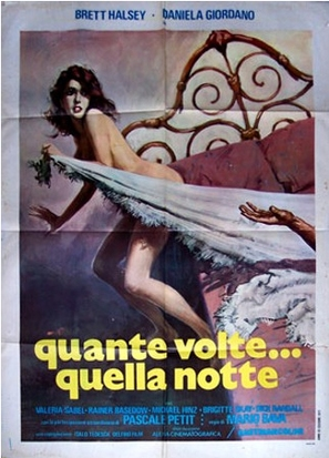 Quante volte... quella notte - Italian Movie Poster (thumbnail)